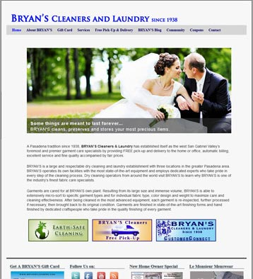 Bryans Cleaners Website by CityCenter Co