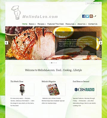 Melinda Lee Website by CityCenter Co