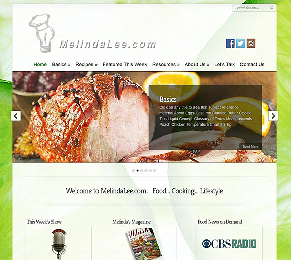 Melinda Lee Website by CityCenter Co.